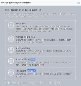 come creare pubblico personalizzato su facebook