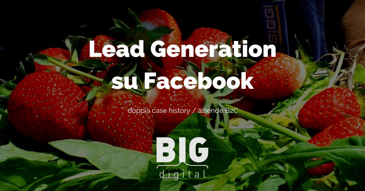 Lead generation per le aziende B2C Facebook. Doppia Case History.