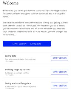 Lezioni interattive su Bubble