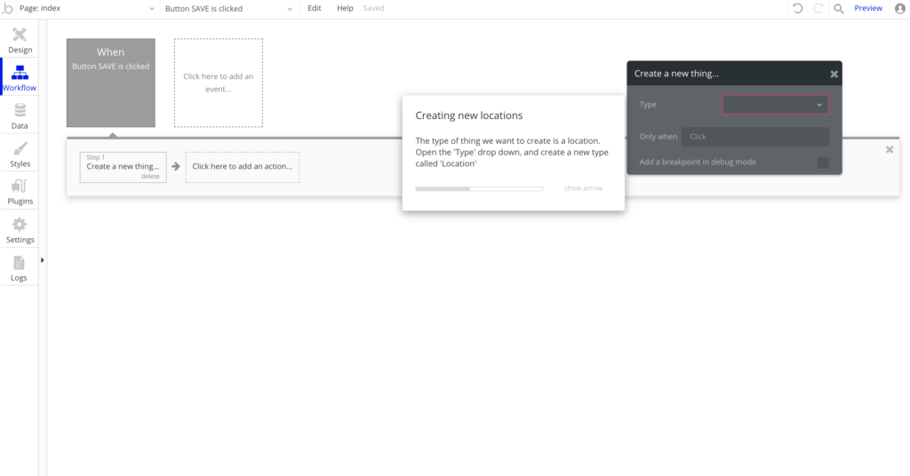 Impostare il workflow