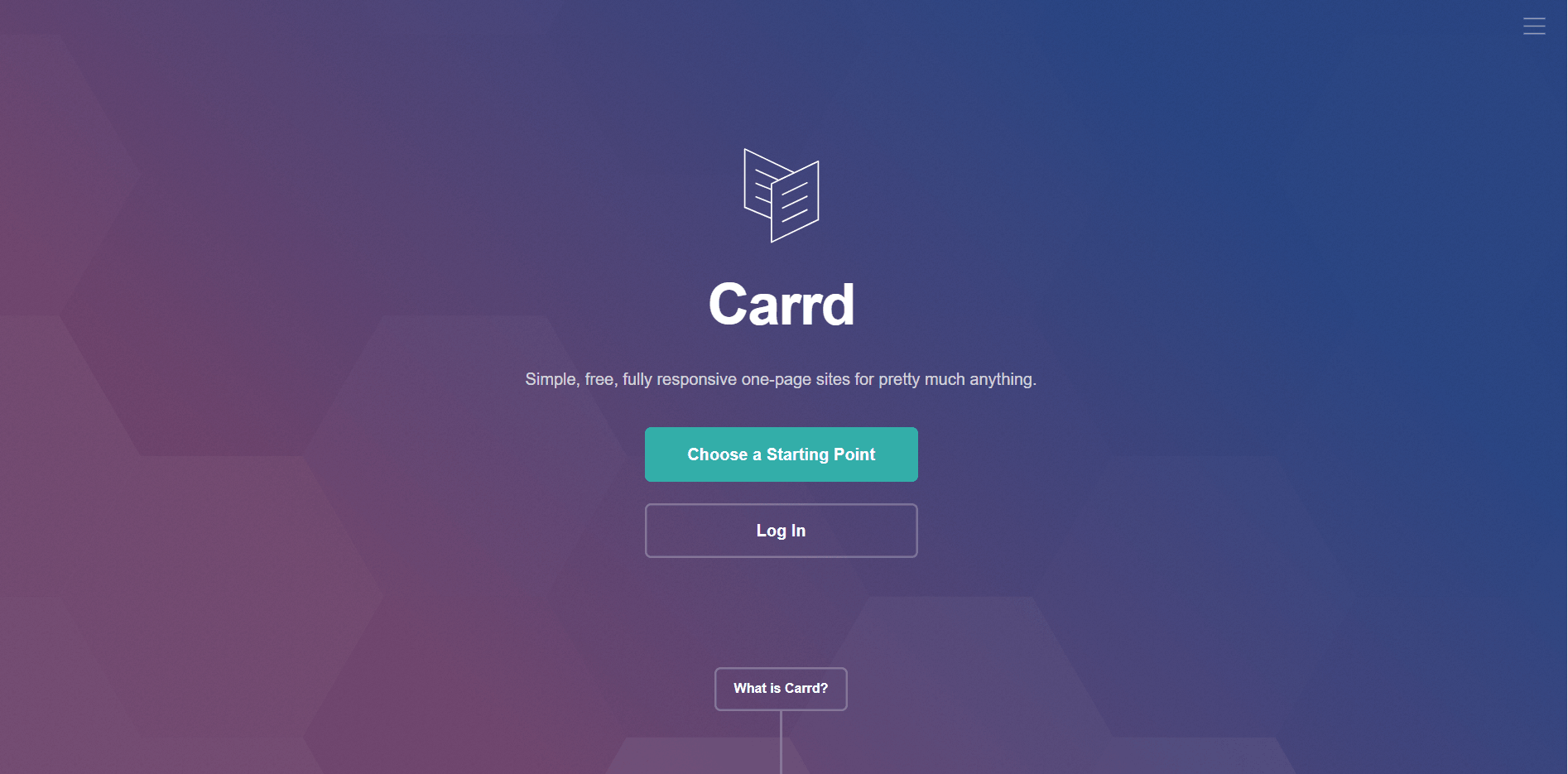 Carrd one page builder