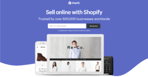 shopify e-commerce sitebuilder